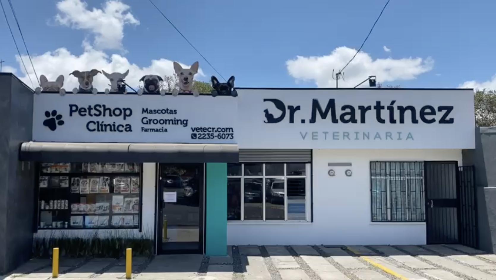 Fachada Veterinaria DR martinez Tibas